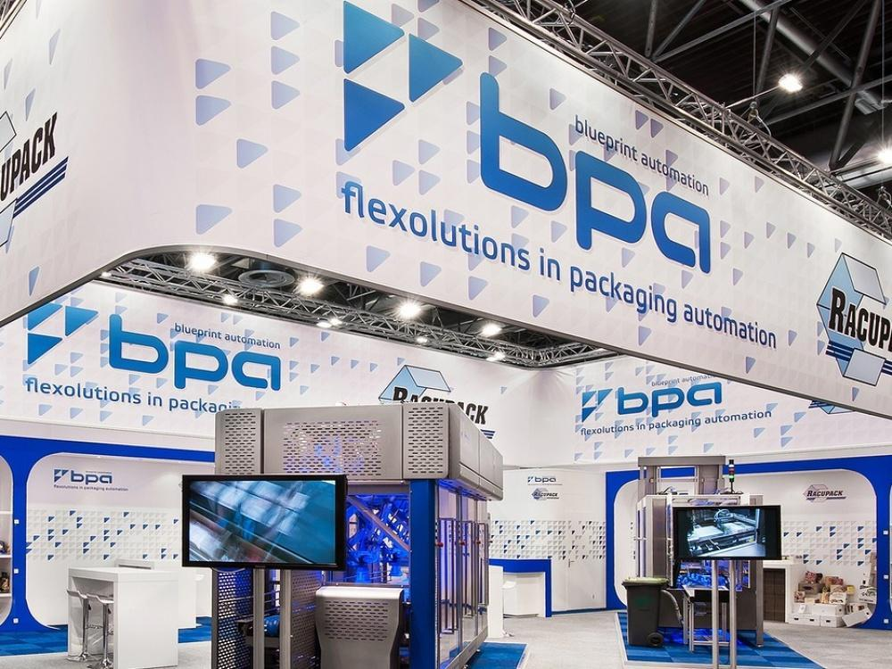 BluePrint Automation en Racupack - Interpack - Messe Düsseldorf